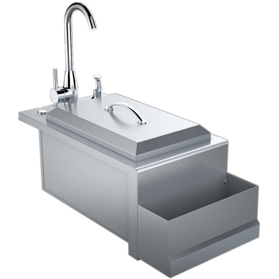 No Outdoor Kitchen Is Complete Without The Matching Accessories Including The 14 Inch Built In Cocktail Pro This Al Outdoor Kitchen Sink Outdoor Kitchen Sink
