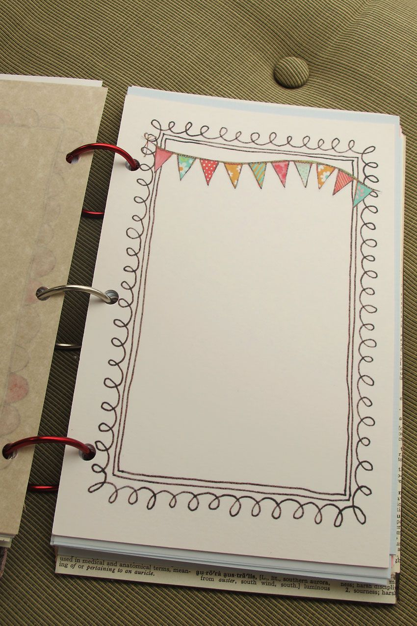 Think that I am going to make my own journal pages like this, such ...