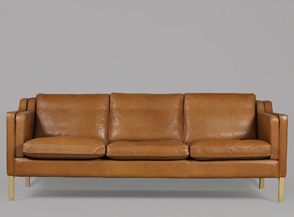 Attraktive Leder Mid Century Modern Sofa Modernes Sofa