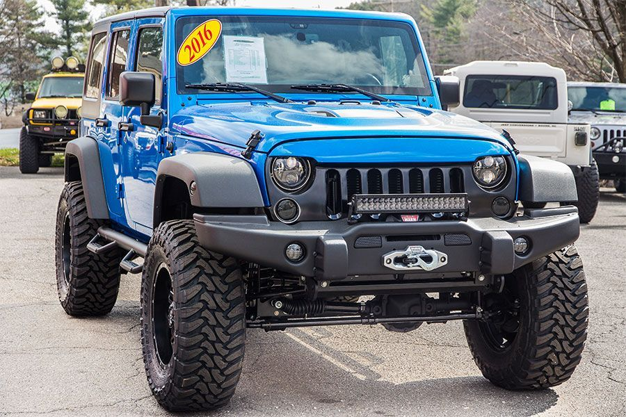2016 Jeep Wrangler Sport Unlimited Hydro Blue Jeep