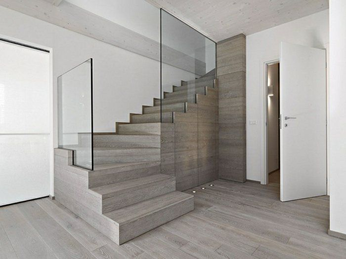 Barandillas vidrio ideas decoracion pinterest escalera ideas y madera natural - Barandillas para escaleras interiores modernas ...