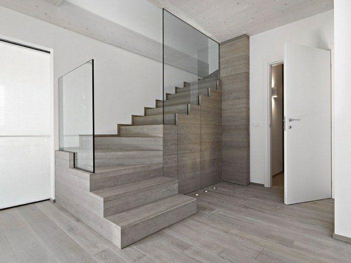 Barandillas vidrio ideas decoracion pinterest escalera ideas y madera natural - Barandilla cristal escalera ...