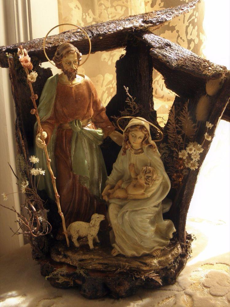 Antique 1920 Holy Family Figure Sacred Family Nativity Set   eBay