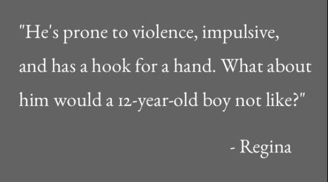 Hook  Regina had a point