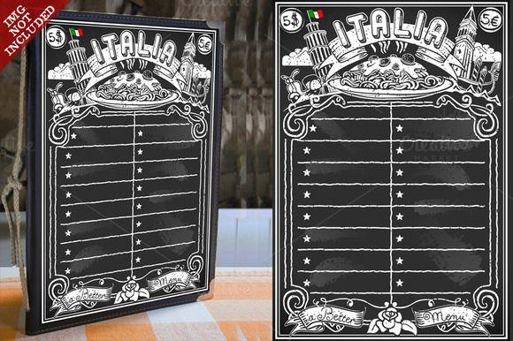 Vintage Blackboard For Italian Menu By A Little Vintage Shop On