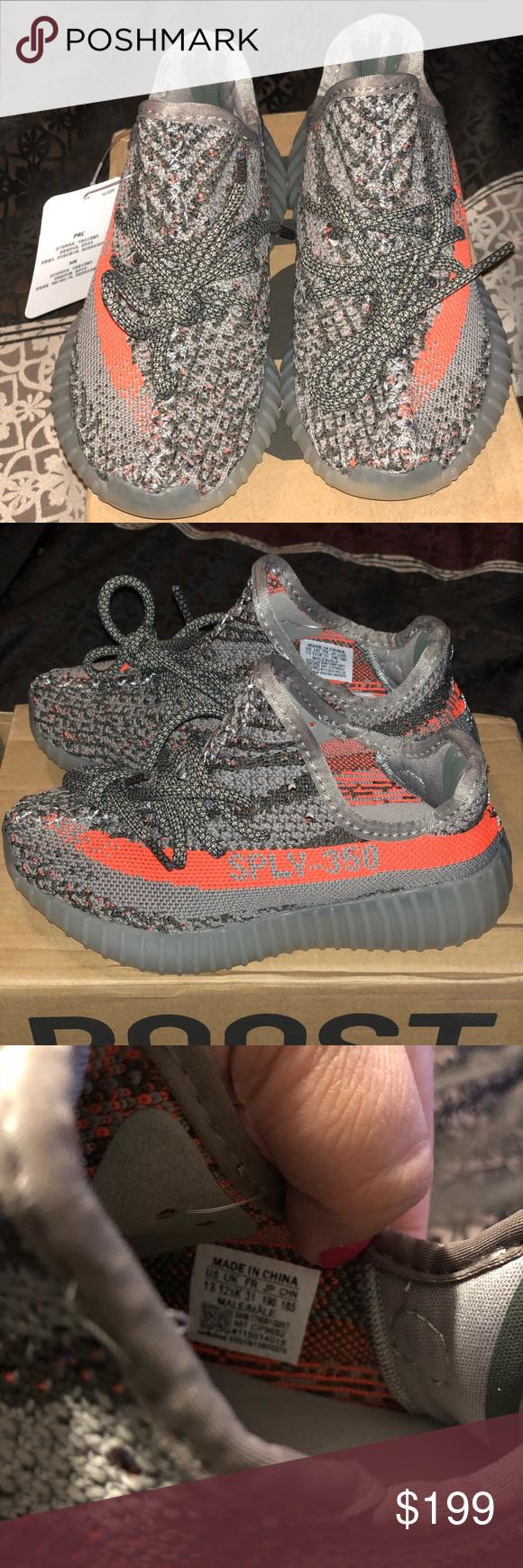9ced476da4dc2 Yeezy kids boost 350 V2 Beluga 2.0 Brand New kids size 13 Yeezy boost 350  V2 Grey Orange. Will ship next day. Yeezy Shoes Sneakers