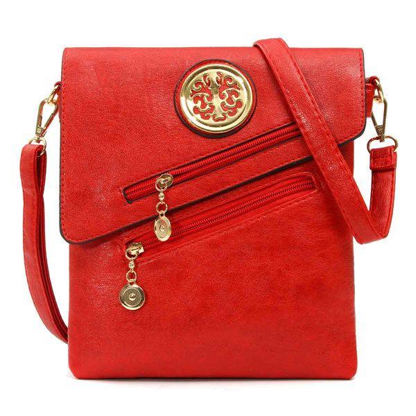Women Casual Leisure PU Leather Zipper Messenger Shoulder Bags Crossbody Bags