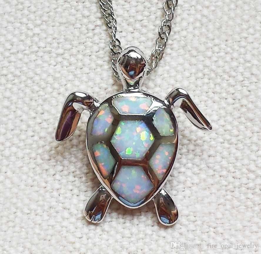 Lovely sea turtle white blue fire opal pendant necklace for lady lovely sea turtle white blue fire opal pendant necklace for lady aloadofball Gallery