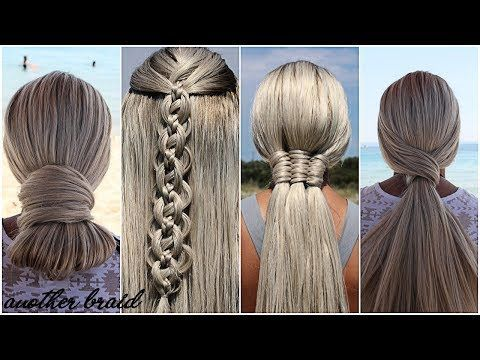 SUMMER HAIRSTYLES | 4 CUTE & EASY HEATLESS SUMMER HAIRSTYLES 2019 by Another Bra...