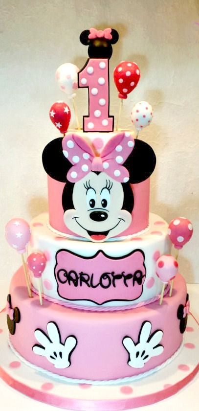 Minnie Mouse Cake Minnie Mouse Theme Pinte