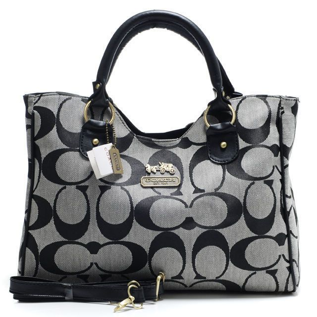 Coach Legacy In Signature Large Grey Satchels ACB | Coach ...