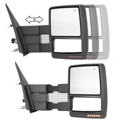 Ford F150 2007 2014 Towing Mirrors Power Heated Led Signal Ford F150 Custom Ford F150 Accessories 2004 Ford F150