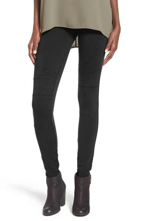 BP. Stretch Denim Moto Leggings