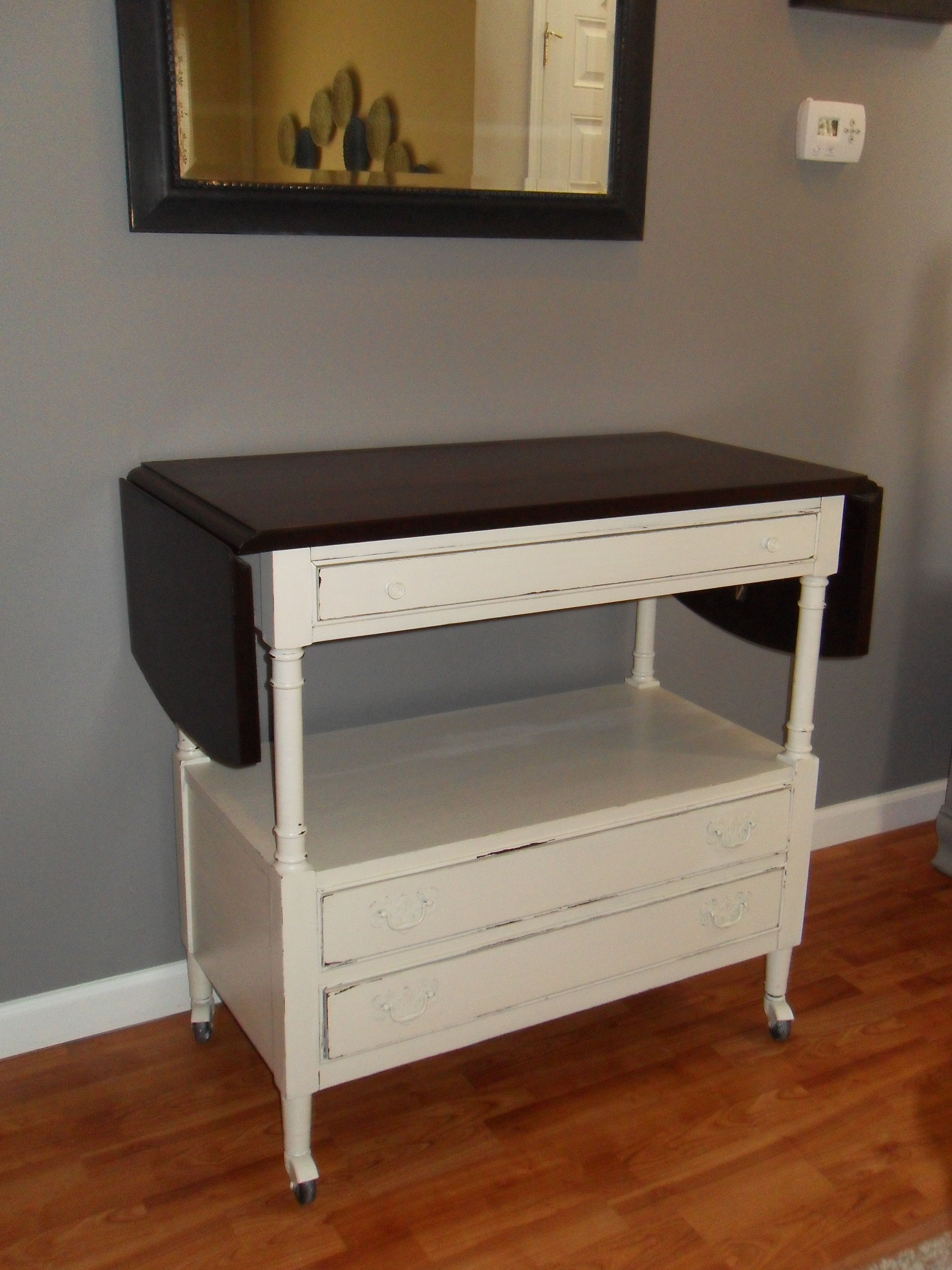 Server buffet painted with General Finishes Antique White and the