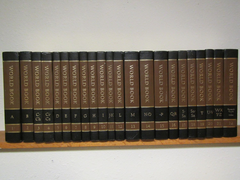 1976 complete set of 22 world book encyclopedias a thru z