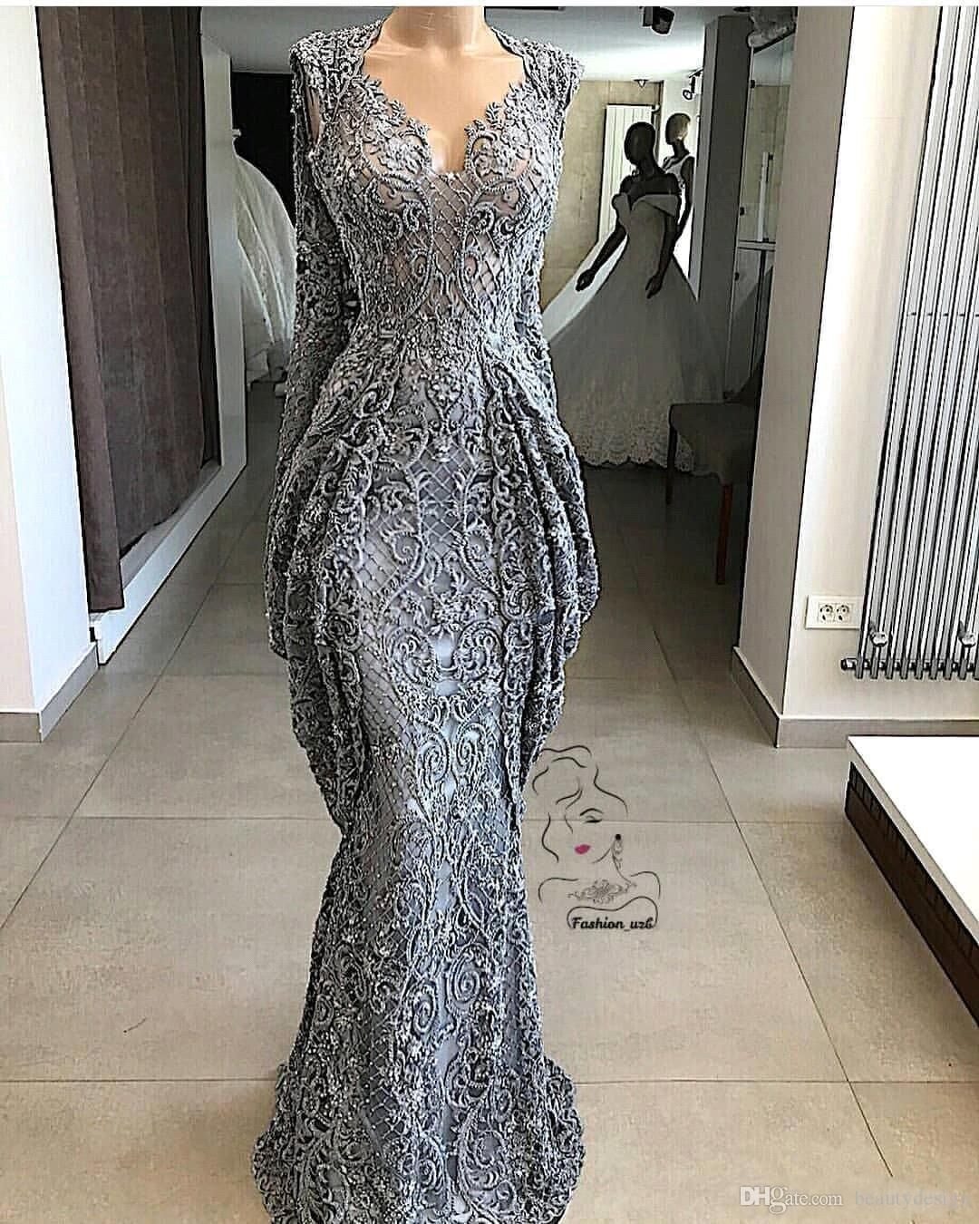 17 Lace Sheath Lace Evening Dresses Mermaid Sequins Formal Event