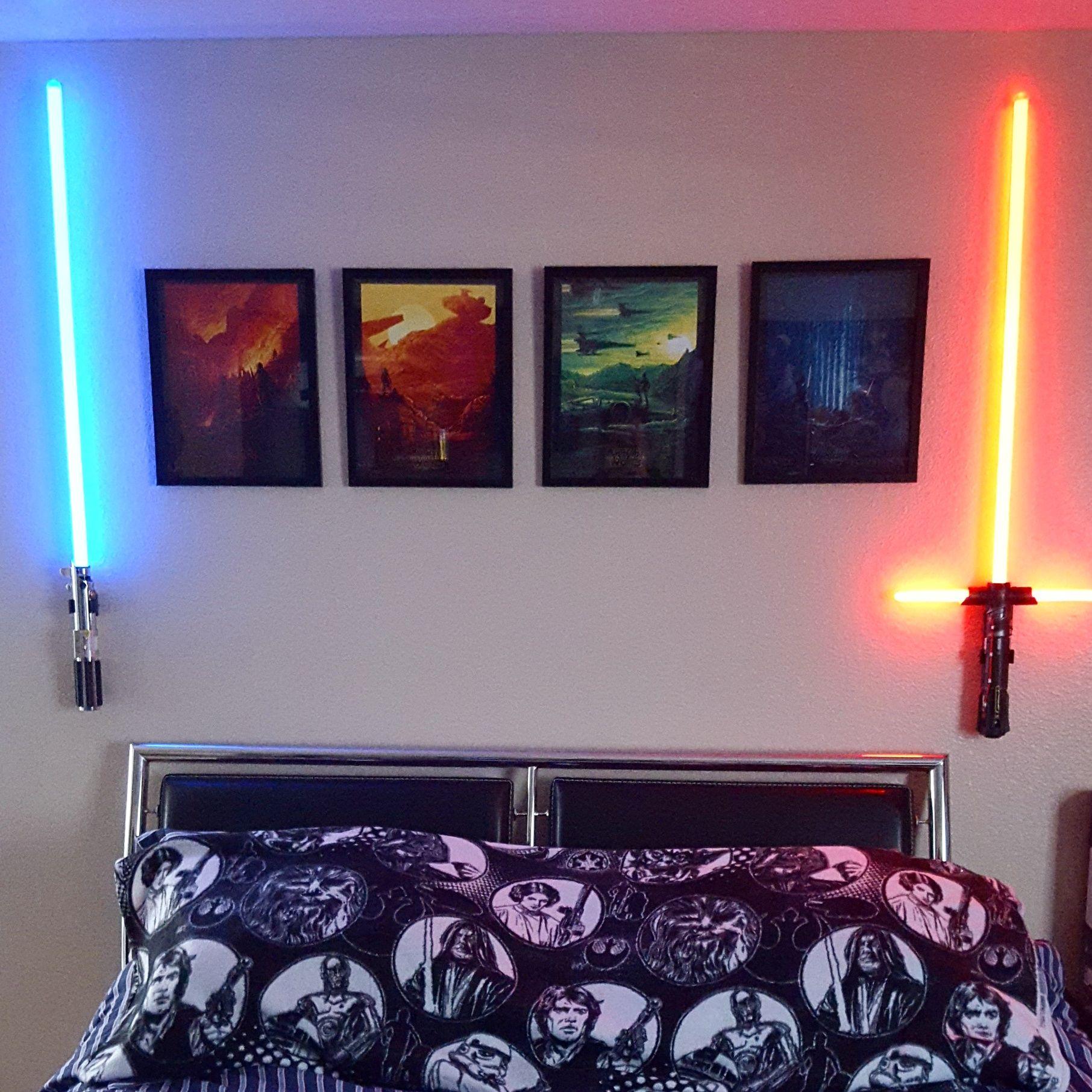 Fun I Finished My Star Wars Wall Star Wars Bedroom Decor Star Wars Themed Bedroom Star Wars Bedroom