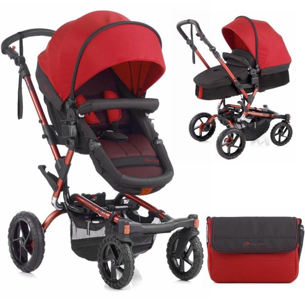 Jane Crosswalk Convert Pushchair (Red) Bob stroller