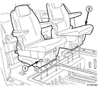 2006 Dodge Grand Caravan: the SECOND ROW Stow & Go seats