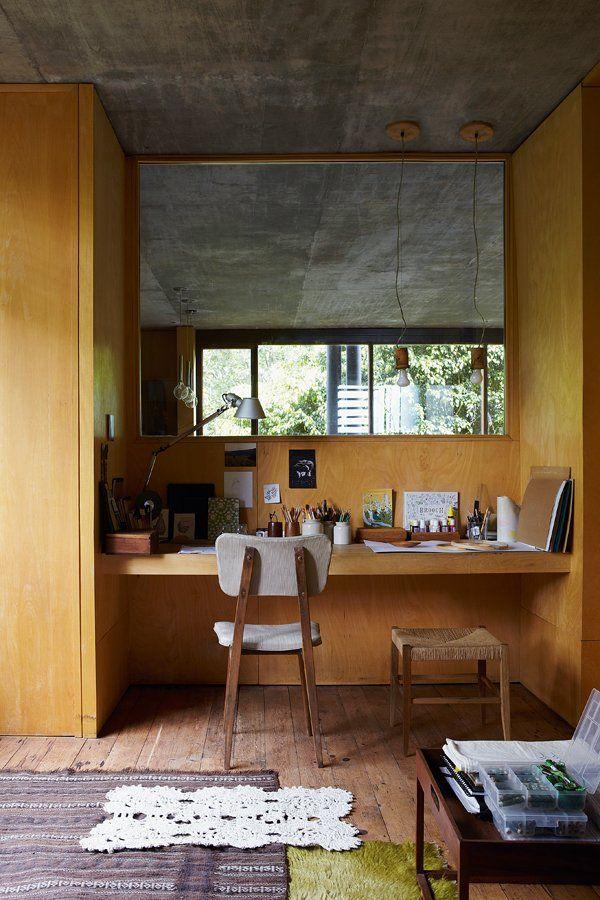 Un Bureau Ouvert Sur La Nature   Marie Claire Maison #homeoffice. Home  Interior ...