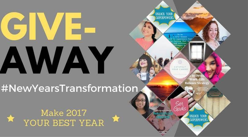 giveaway, life coaching, careers,  career planning, work life balance, positivity, new years resolutions, sweepstakes, 2017