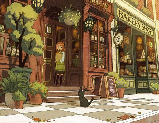 Bakery Illustration Art Environment Concept Art Animation Art