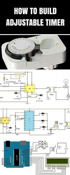 adjustable timer circuit diagram with relay output circuit diagram rh za pinterest com Electrical Circuit Diagrams Electronic Hobby Circuits Schematics