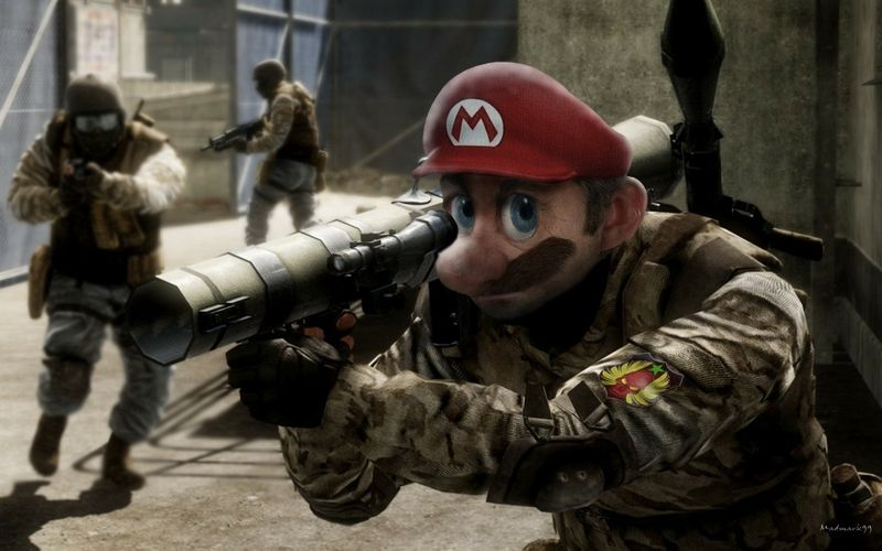 Mariosuper mario mario super mario battlefield bad company 2 call of duty online game wallpapers wallpapers hd wallpapers voltagebd Images