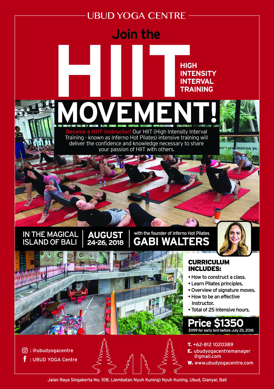 Hiit Inferno Hot Pilates Teacher Training An Intensive 3 Days