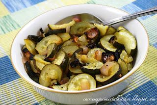 Lime Roasted Zucchini & Shallots