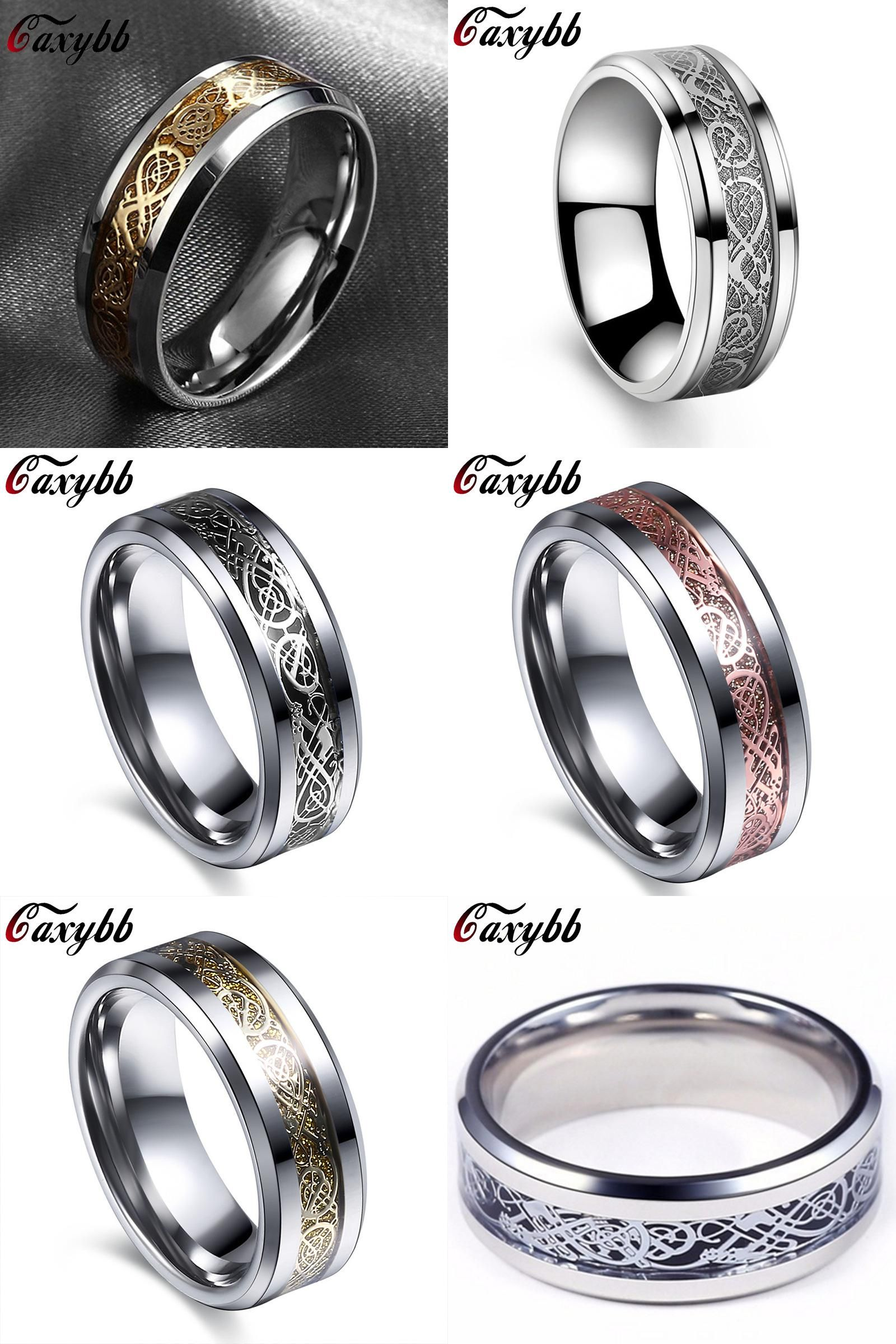 Visit to Buy] Gaxybb Stainless steel dragon ring fine jewelry how
