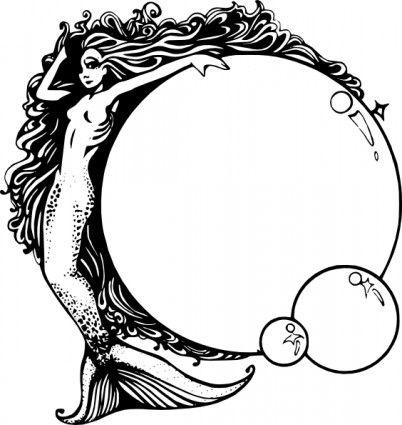 free mermaid clip art mermaids pinterest clip art mermaid and rh pinterest co uk Vintage Mermaids and Neptune Vintage Mermaid Jewelry