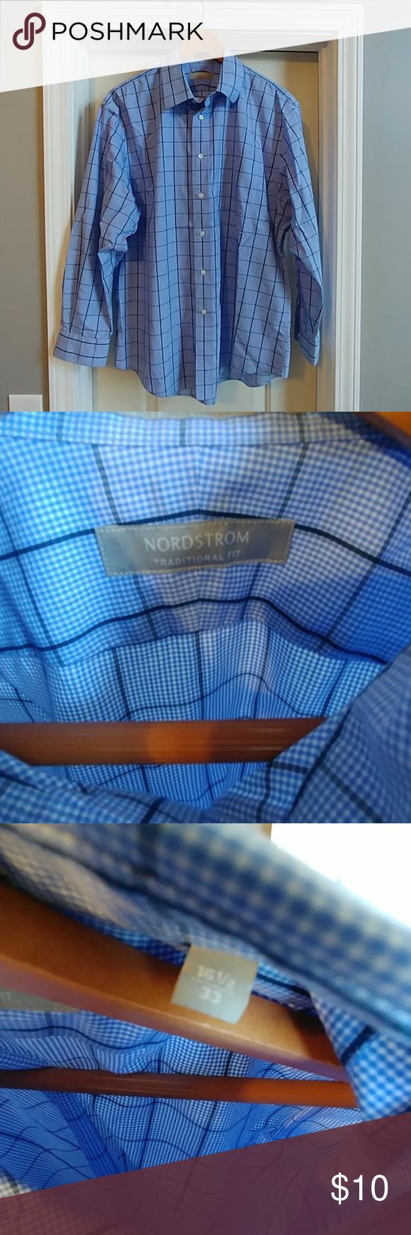 Nordstrom mens blue plaid dress shirt my posh picks