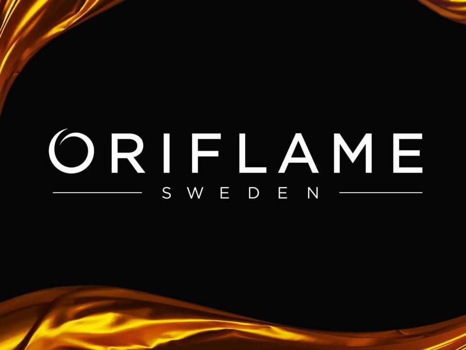 Negro y oro logo Oriflame