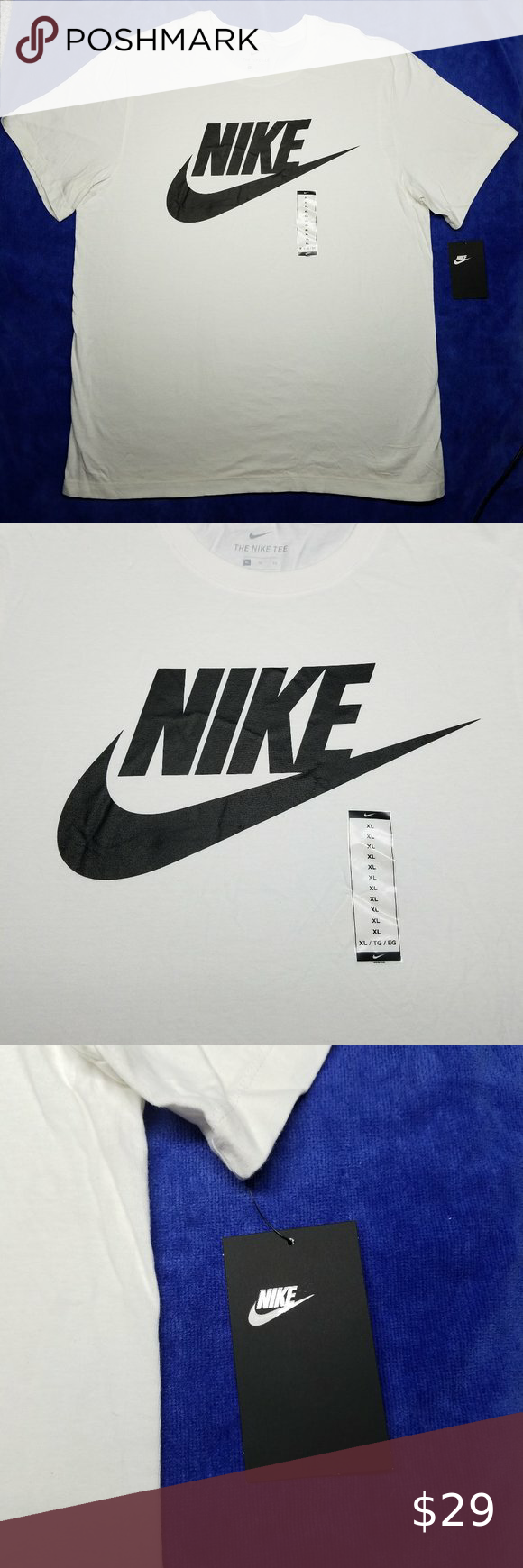 Nike SWOOSH Logo TShirt XL NEW Porcelain White NWT in
