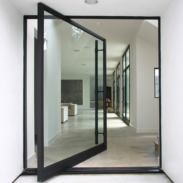 Side Pivot Door Black Frame Idee Per Interni Progetto Casa