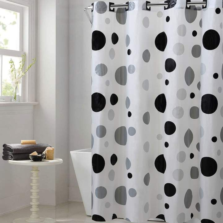 Ez On By Hookless Retro Dots Peva Shower Curtain Hookless Shower