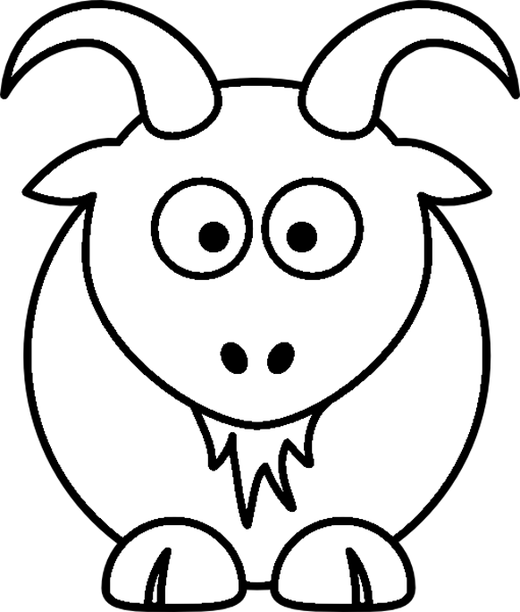 Simple Animal Coloring Pages | Animal Coloring Page Printout ...