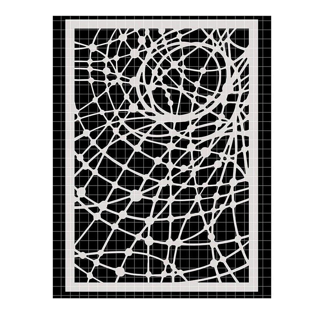 TCW The Crafters Workshop Geometric 12 x 12 Stencil Geo Netting