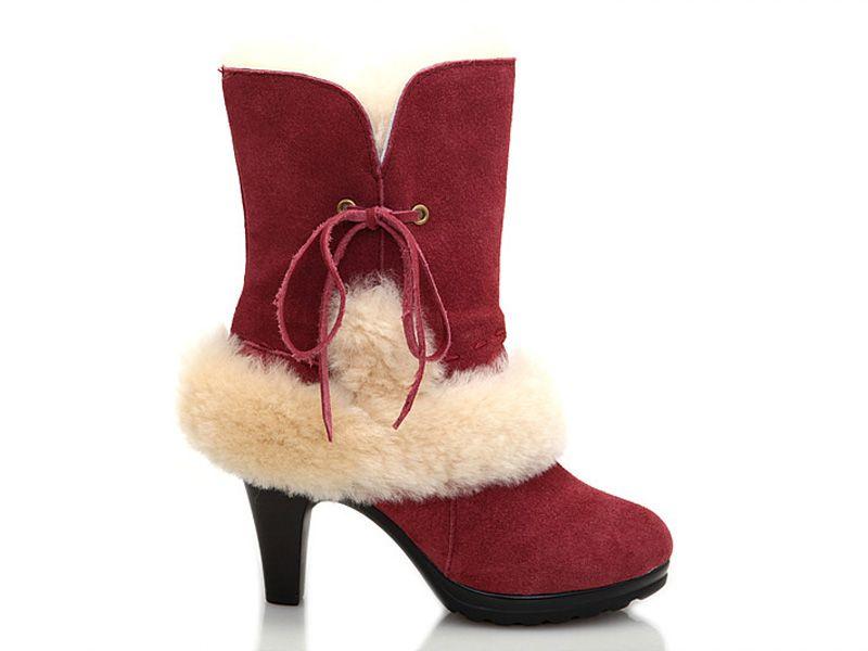 ugg boots canada deborah high heel chestnut sangria high heels