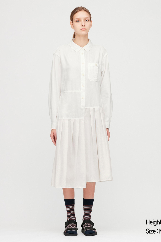 Women Jw Anderson Pleated Long Sleeved Shirt Dress Dress Shirts For Women Shirt Dress Women Long Sleeve Dress [ 3000 x 1999 Pixel ]