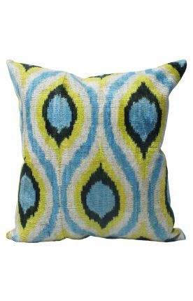 Rugs USA Pillows Ikat Velvet Silk And Cotton Decorative Pillow. Rugs USA  Labor Day Sale