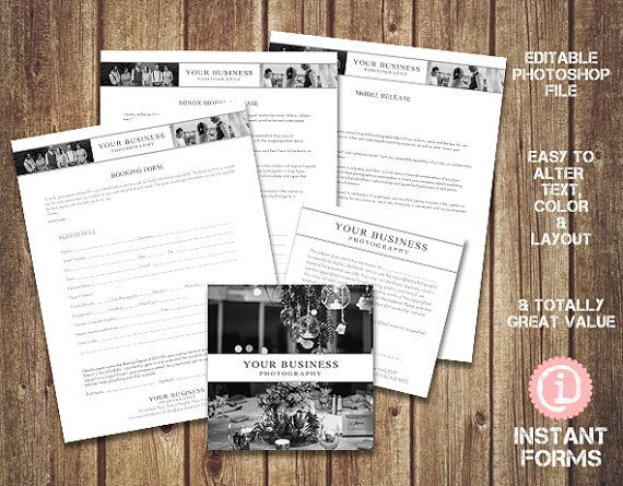 Photographers Release Forms IF125 INSTANT by InstantForms - photographer release form