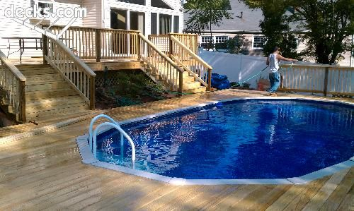 This The Deck Want Around Our Pool Maybe