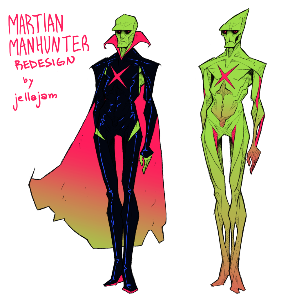 Martian Manhunter Redesigned By Jellajam On Newgrounds The Martian Martian Manhunter Shapeshifter