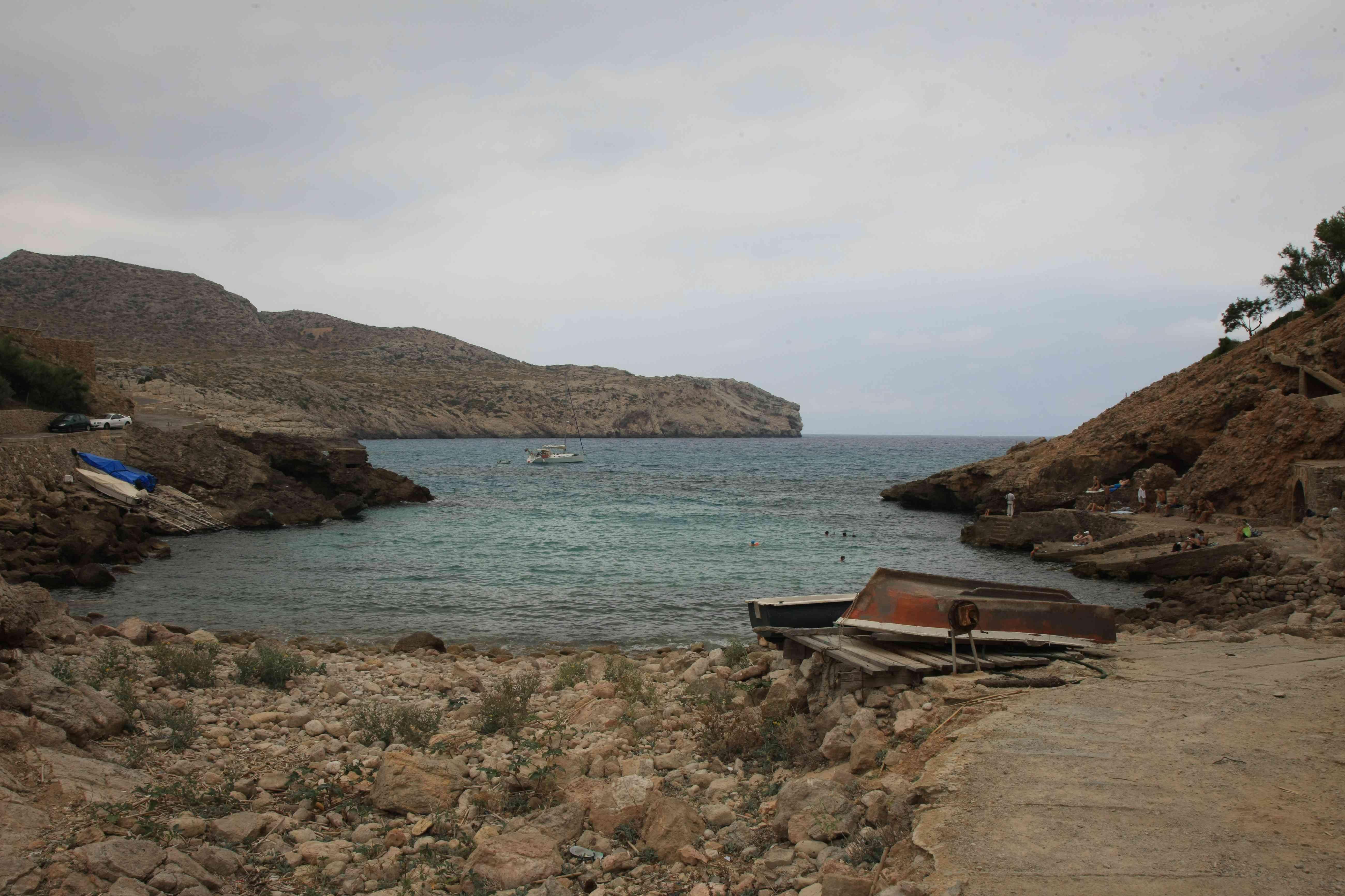 Watching the ships at Bay Calobra Torrent de Pareis Sa Cobra Mallorca Marvelous Mallorca Pinterest