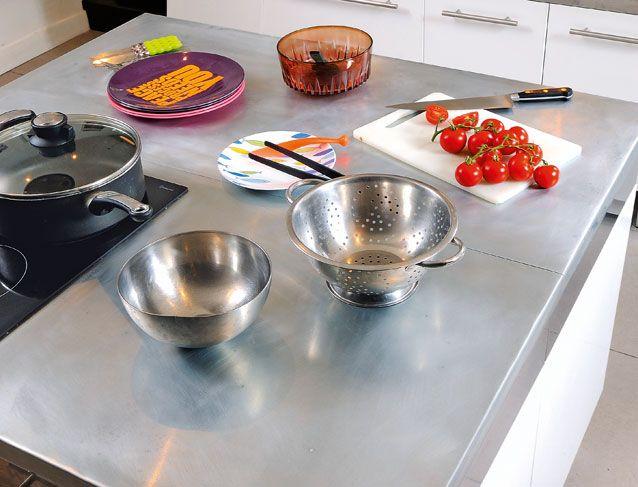 Un Plan De Travail En Zinc Plaque De Zinc Plan De Travail Plan Cuisine