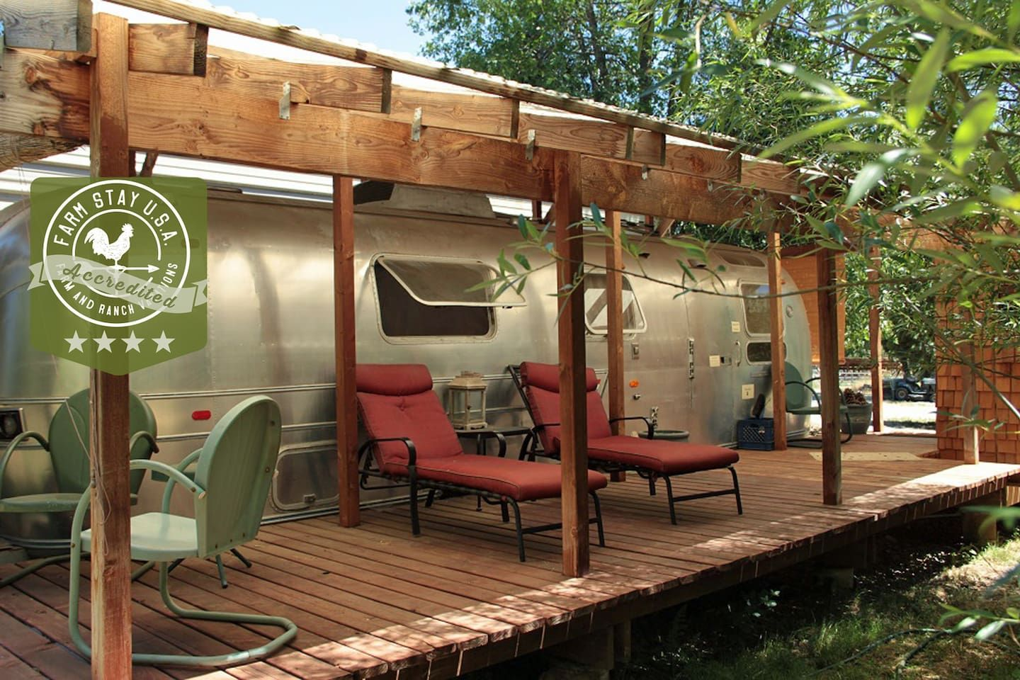 Off-the-Grid Retro Airstream at Pholia Goat Farm - Campers