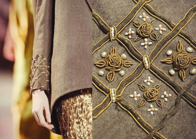 Goldwork, nice detail on the sleeve