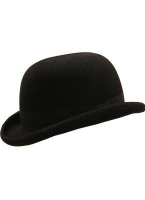 3088ab518919a Sombrero Bombin Clásico de fieltro de lana 100%. Copa rígida cinta de gros.  Tiene tafilete interno de elástico para mejor ajuste.